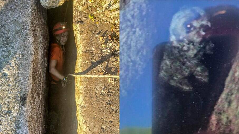 Jessica Van Ord resgatou a cachorrinha Liza que estava na fenda há 5 dias