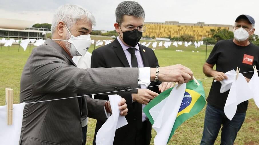 Homenagem às vítimas da Covid no Congresso Nacional, em Brasília