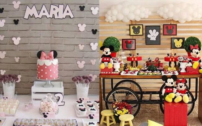 Antes de começar a comprar os enfeites da decoração, é preciso escolher quais as cores base para a festa da Minnie