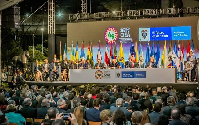 A 49ª Assembleia Geral da OEA acontece em Medelín, na Colômbia