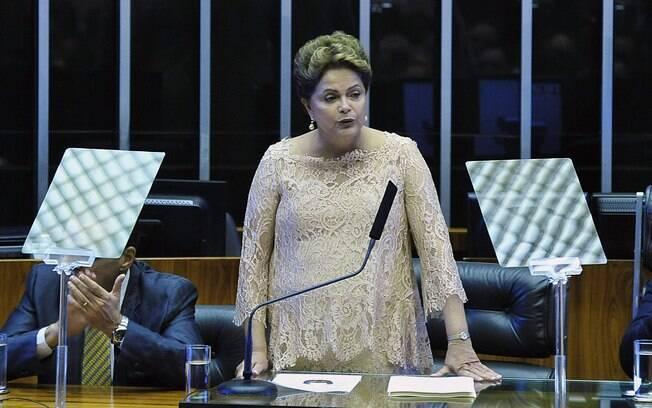 Dilma Rousseff discursou no Congresso Nacional após ser empossada para segundo mandato