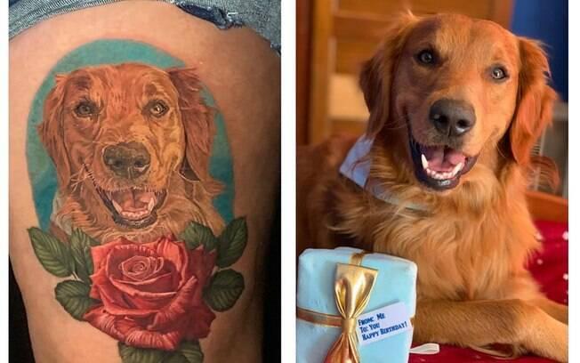 Tatuagem de cão de Jenna Ford