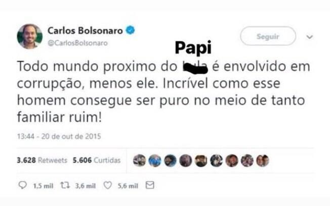 Meme de usuário do Twitter ironizando a relação dos Bolsonaro com Queiroz