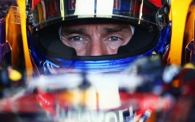 Mark Webber, parceiro de Vettel na Red Bull,  foi o segundo do dia