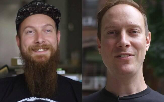 Luke Hughett: ele tirou a barba pela filha, mas deu um jeito de mantê-la