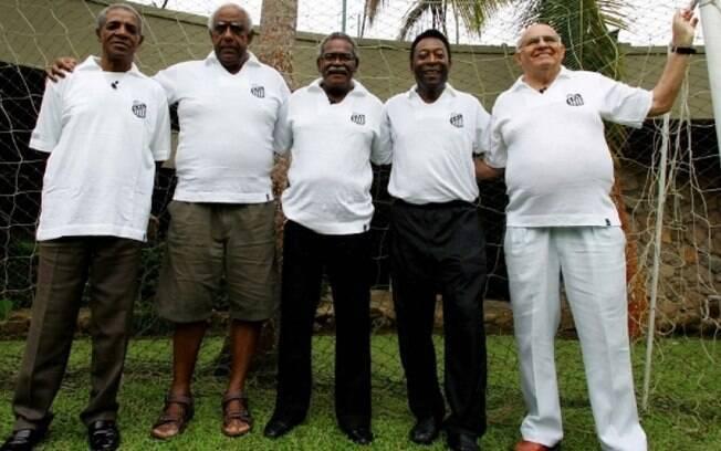 Ídolos do Santos: Dorval, Mengálvio, Coutinho, Pelé e Pepe