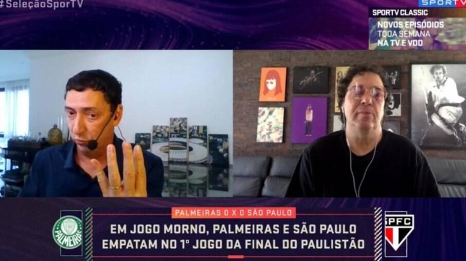 Casagrande e PVC discutem em programa do SporTV