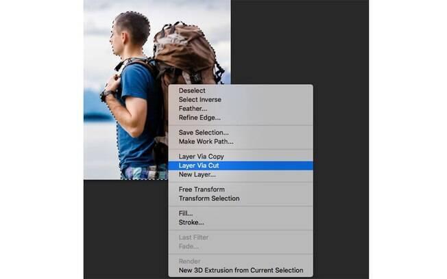 Quando terminar, clique com o botão direito do mouse na área selecionada e escolha