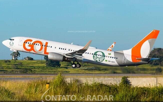 GOL adiciona mais dois Boeing 737 para Palmeiras e Santos