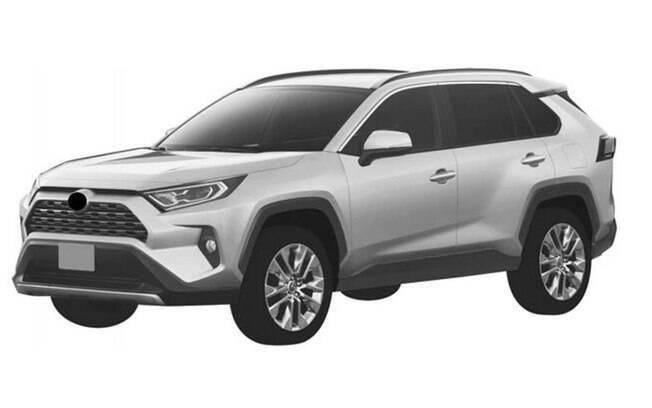 Toyota RAV4 2019 surge nos registros do INPI no Brasil, com as mesmas linhas do modelo vendido em países como os EUA