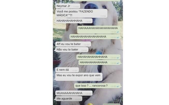Neymar mostra conversa com Bruna Marquezine no whatsapp