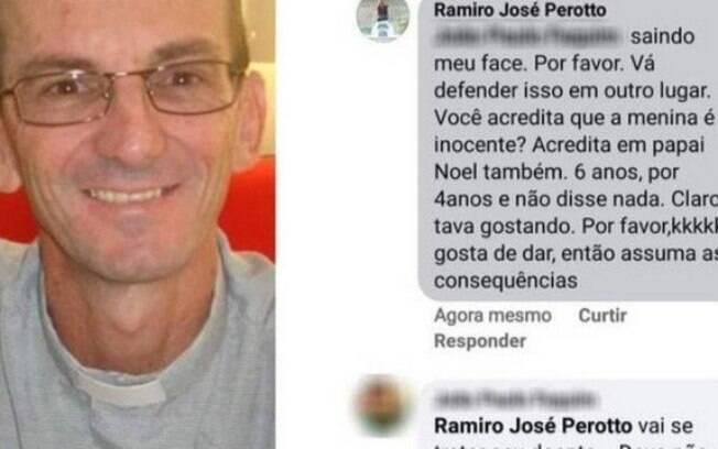 Postagem feita no Facebook foi deletada em seguida por Ramiro Perotto