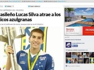 Lucas Silva tem apenas 21 anos e chegou ao Cruzeiro em 2007