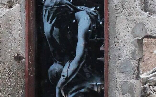 O mural em Gaza: antigo dono alega ter sido vítima de fraude e pede a obra de volta