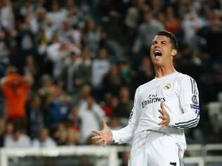 Real's Cristiano Ronaldo reacts, during the Champions League final soccer match between Atletico Madrid and Real Madrid, at the Luz stadium, in Lisbon, Portugal, Saturday, May 24, 2014. (AP Photo/Andres Kudacki)