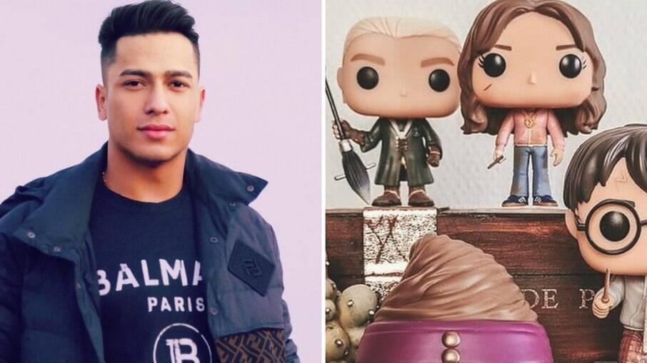 Felipe Pimentel e os itens inspirados no Harry Potter