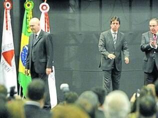 Antônio Andrada, Dinis Pinheiro e Alberto Pinto Coelho  no evento