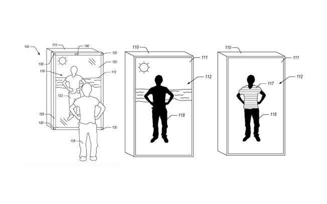 Patente de espelho virtual da Amazon prevê o uso de câmeras, projetores e telas para fazer