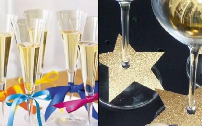 As taças também são objetos que podem ser personalizados para fazer parte da decoração de Ano Novo