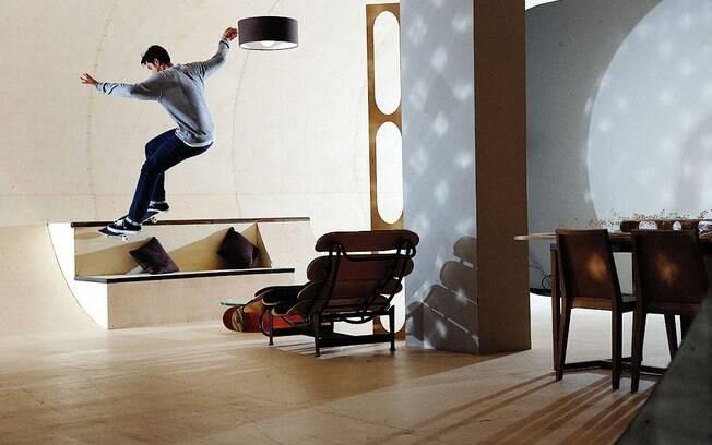 A PAS House será a primeira totalmente adaptada para se andar de skate por todos os cômodos
