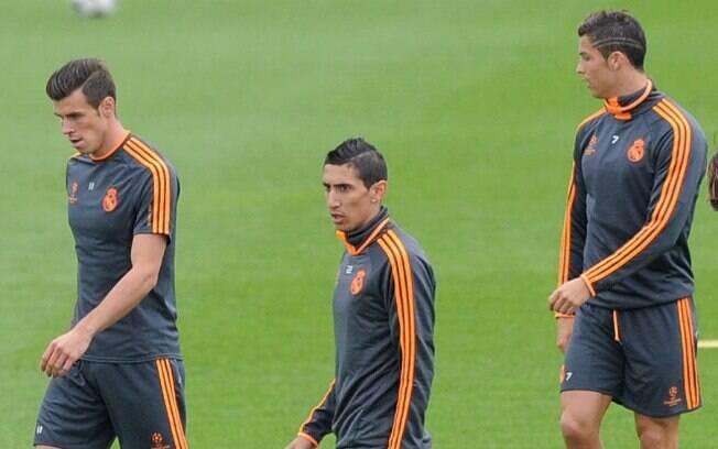 Bale, Di Maria e Cristiano Ronaldo: em baixa desde que o argentino deixou o Real Madrid