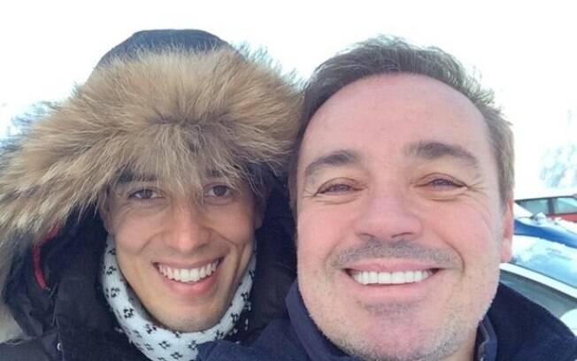 Thiago Salvático postou a lembrança, para lembrar dos 8 meses sem o apresentador