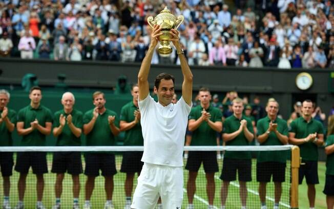 Roger Federer conquista o torneio de Wimbledon pela 8ª vez e faz história
