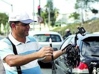 Wacley Soares aceita cartões de débito mesmo vendendo no sinal