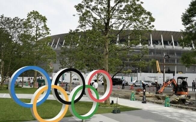 O estádio nacional de Tóquio, um dos locais de maior fluxo de público, terá diversas estações do APM