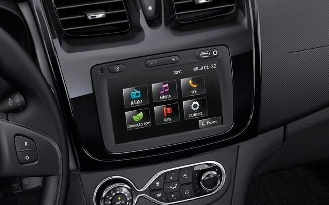 A central multimídia Media Nav também equipa o SUV Duster, e deverá ser atualizada em breve