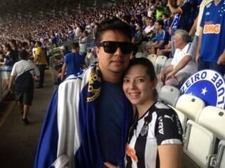 Casal de namorados foi vítima da intolerância de um cruzeirense no Mineirão e precisou assistir ao jogo um longe do outro