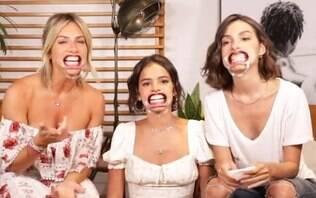 Giovanna Ewbank, Marina Moschen e Marquezine se divertem em vídeo brincalhão