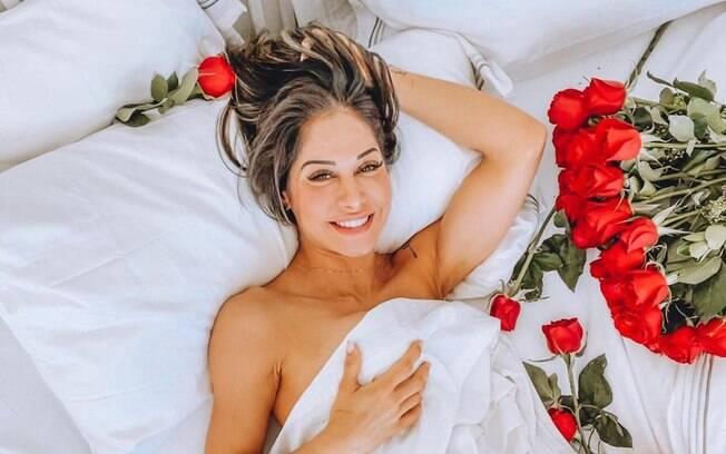 Mayra Cardi tem noite romântica com novo affair