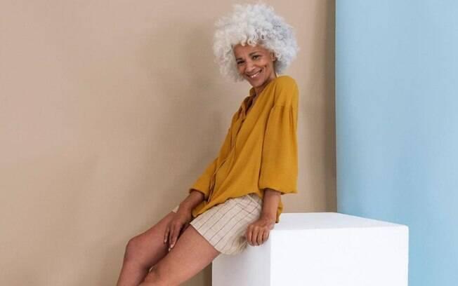 Evon Brennan diz que, em seu primeiro casting, ficou encantada em ver outras modelos que também têm cabelos brancos