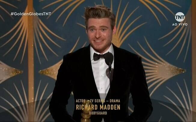 Richard Madden, vencedor do Globo de Ouro de melhor ator em série dramática por