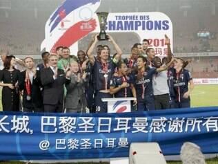 Jogo entre campeão do campeonato francês e da Copa da França aconteceu Pequim