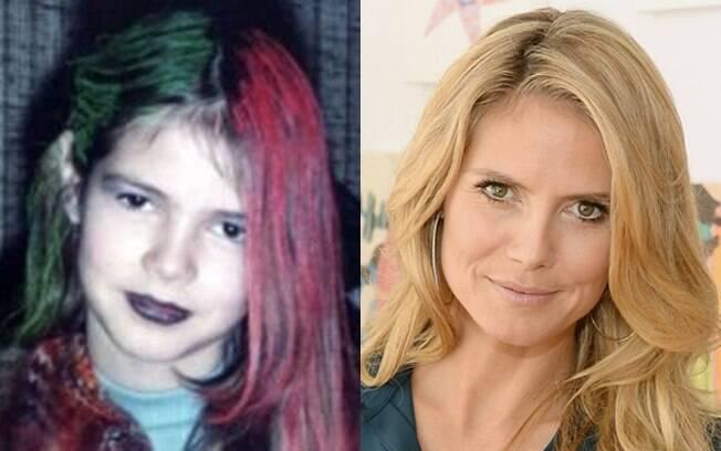 Heidi Klum com nove anos e em 2013