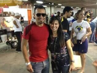 Ceará esteve com sua mulher Fernanda no ginásio