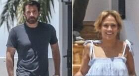 Ben Affleck e Jennifer Lopez são flagrados aos beijos