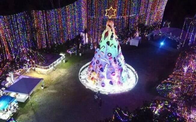 Show de luzes natalinas na cidade de Sorocaba