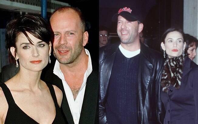Demi Moore e seu segundo marido, Bruce Willis