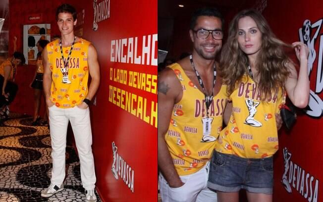 Jonatas Faro e Eliza Joenck com o amigo Fernando Torquatto
