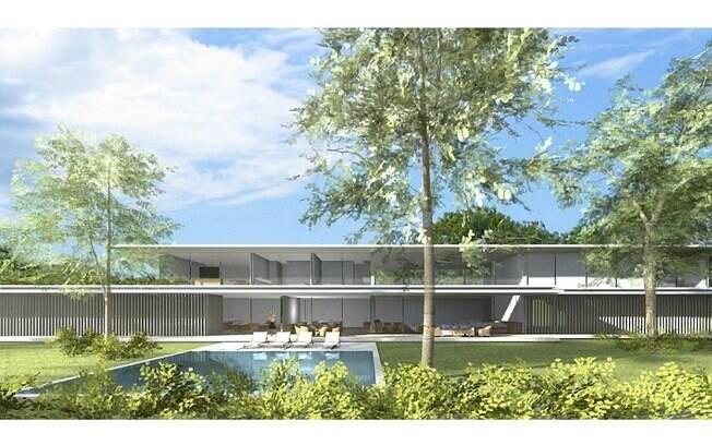 O escritório apostou na geometria reta para fazer a casa AK, localizada no Jardim Europa. As brises retráteis permitem aos moradores expandirem o contato com o meio ambiente
