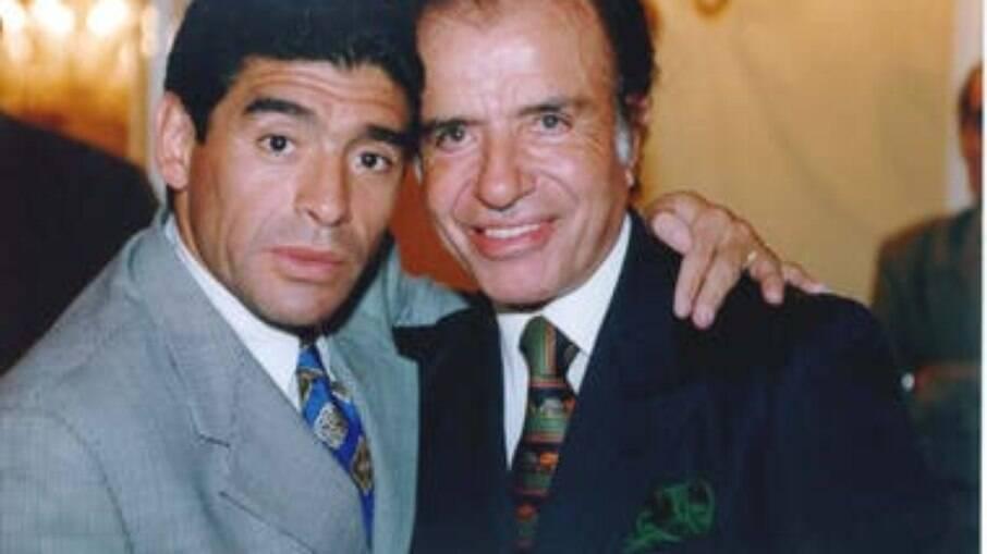 Menem e Maradona
