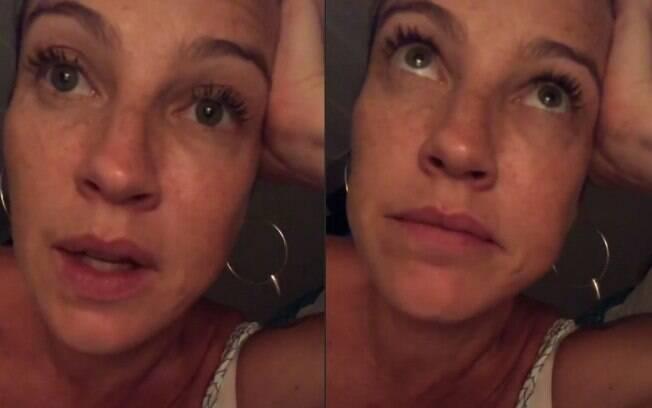 Luana Piovani conta que não aproveitou a virada de ano por conta da filha