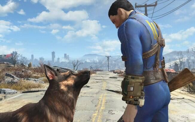 Em Fallout 4, protagonista tem a companhia do Pastor Alemão presente em edições anteriores