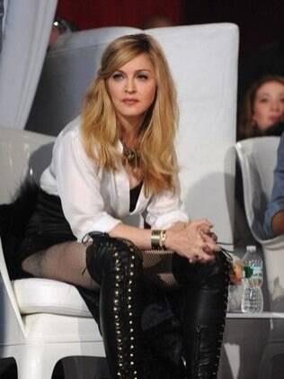 Madonna no evento em que escolheu o novo dançarino para sua próxima turnê, em 13 de novembro.