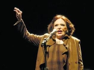 A voz. A cantora e atriz Bibi Ferreira já homenageou Edith Piaf e Amália Rodrigues