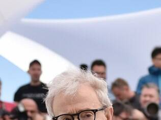 US director Woody Allen poses during a photocall for the film