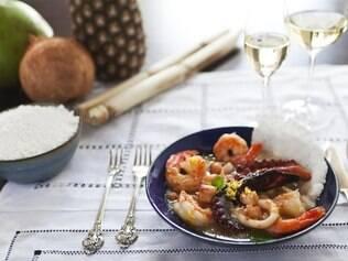 Prato do chef mineiro Renato Quintino, inspirado nos sabores do Nordeste
